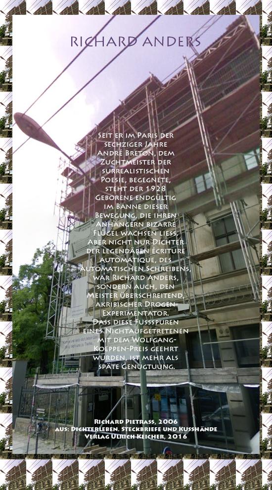 Beitragsbild von Juliane Duda zu Richard Pietraß: Dichterleben – Richard Anders