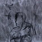 Mashup von Juliane Duda zu dem Buch von Boris Pasternak: Initialen der Leidenschaft