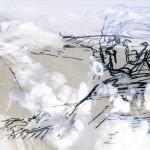 Mashup von Juliane Duda zu dem Buch von Philip Larkin: Mich ruft nur meiner Glocke großer Klang