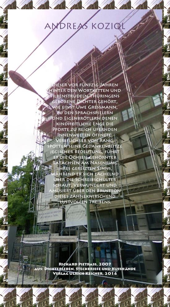 Beitragsbild von Juliane Duda zu Richard Pietraß: Dichterleben – Andreas Koziol