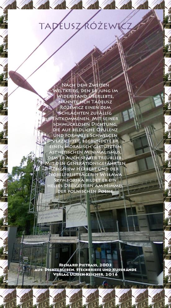 Beitragsbild von Juliane Duda zu Richard Pietraß: Dichterleben – Tadeusz Różewicz