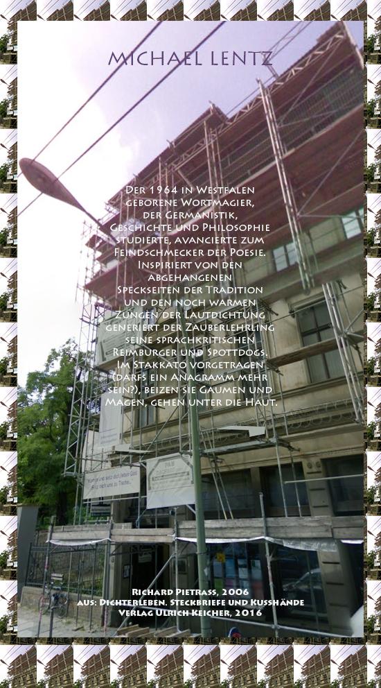Beitragsbild von Juliane Duda zu Richard Pietraß: Dichterleben – Michael Lentz