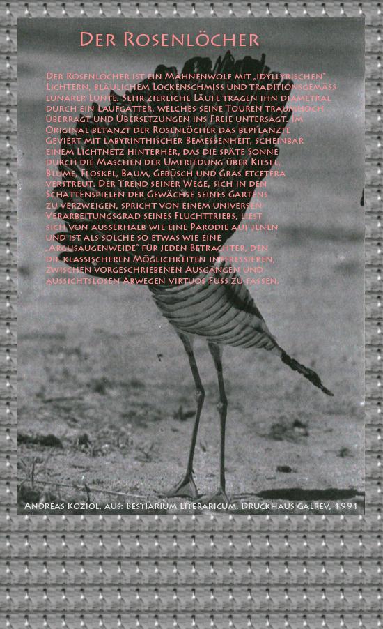 Bestiarium Literaricum-Der Rosenlöcher