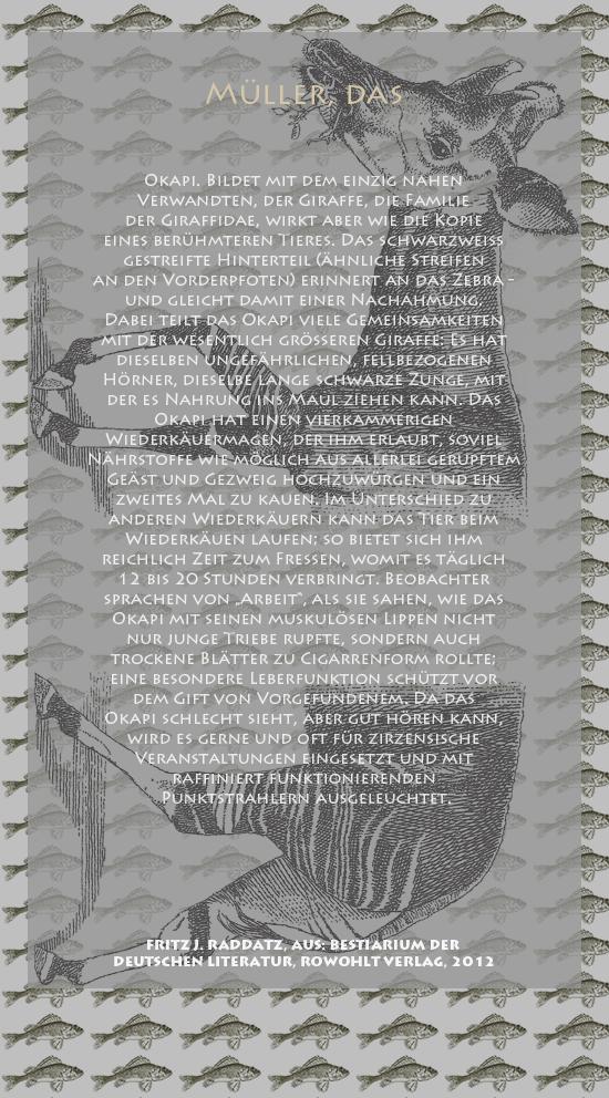 Bestiarium der deutschen Literatur-Müller