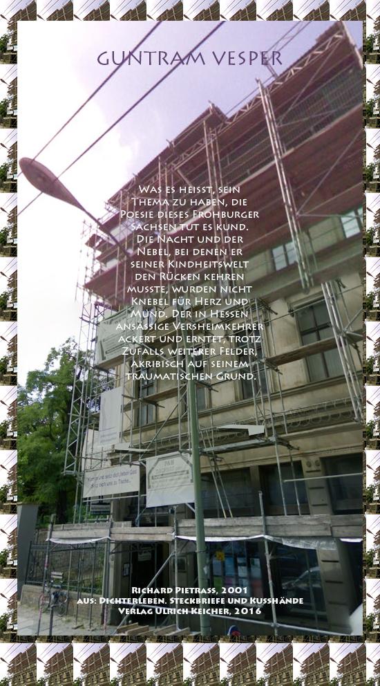Beitragsbild von Juliane Duda zu Richard Pietraß: Dichterleben – Guntram Vesper