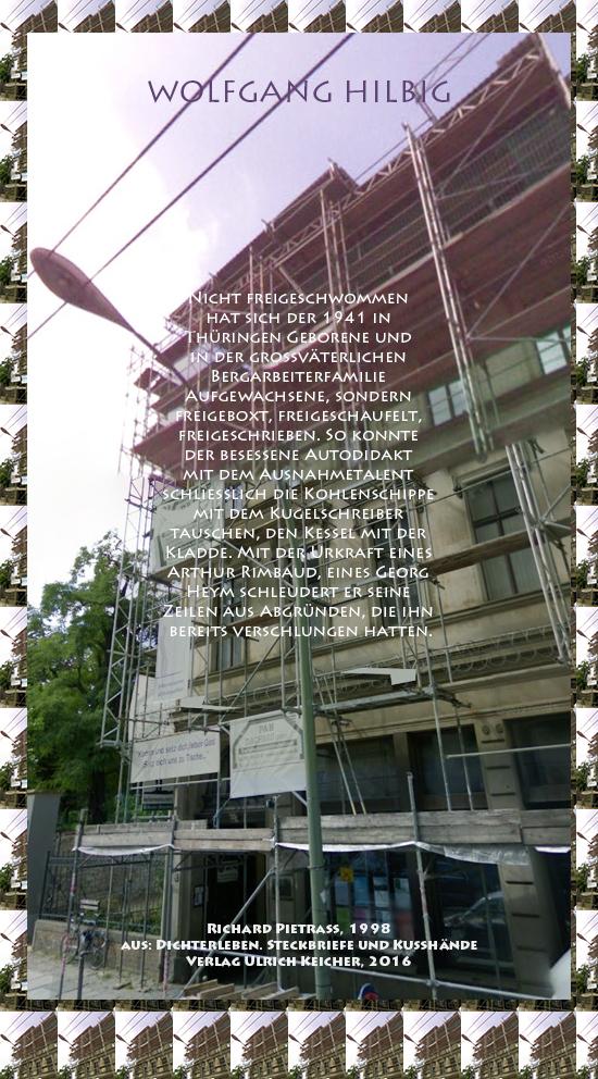 Beitragsbild von Juliane Duda zu Richard Pietraß: Dichterleben – Wolfgang Hilbig