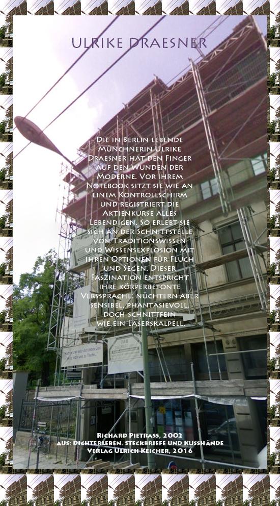 Beitragsbild von Juliane Duda zu Richard Pietraß: Dichterleben – Ulrike Draesner