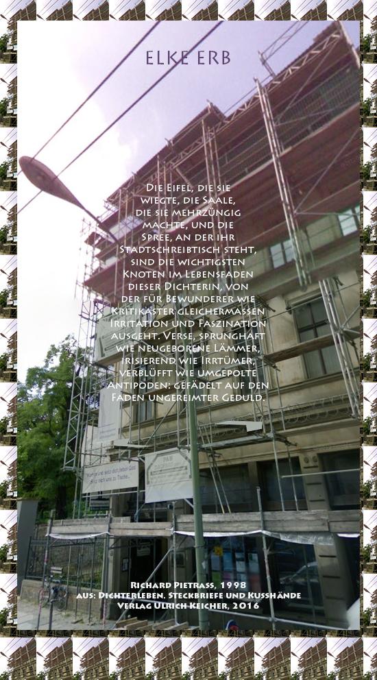 Beitragsbild von Juliane Duda zu Richard Pietraß: Dichterleben – Elke Erb