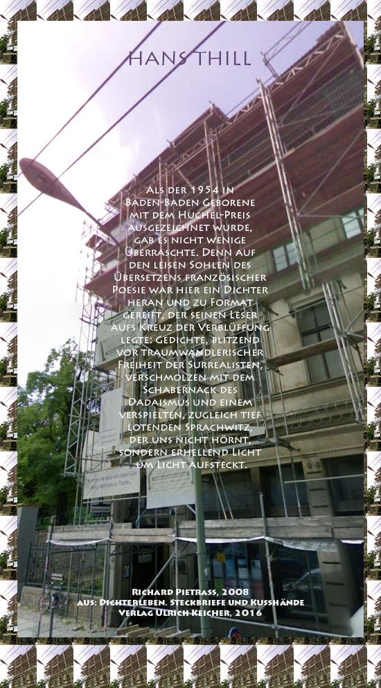 Beitragsbild von Juliane Duda zu Richard Pietraß: Dichterleben – Hans Thill
