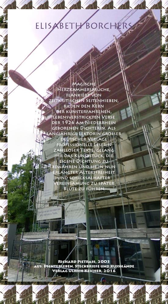 Beitragsbild von Juliane Duda zu Richard Pietraß: Dichterleben – Elisabeth Borchers