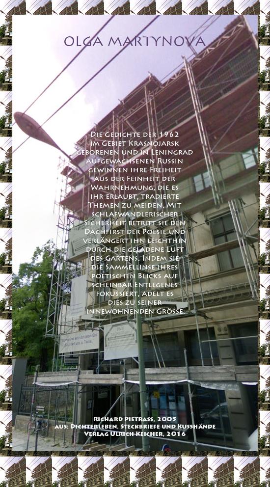 Beitragsbild von Juliane Duda zu Richard Pietraß: Dichterleben – Olga Martynova