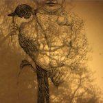 Mashup von Juliane Duda zu dem Buch von Ann Cotten: Pflock in der Landschaft