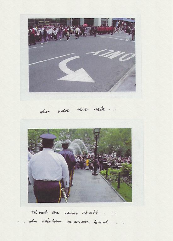 New York Fotos mit Handschrift versehen