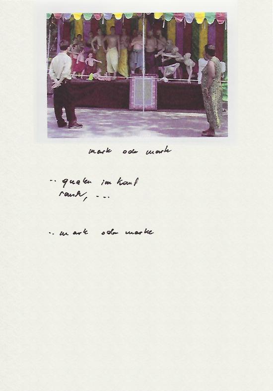 New York Foto mit handschriftlichem Text
