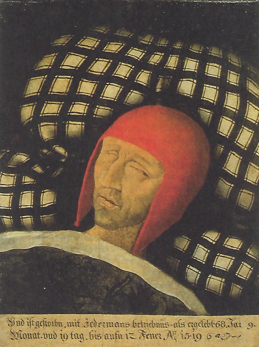 Totenbildnis Kaiser Maximilians I. Unbekannter Maler, nach 1519