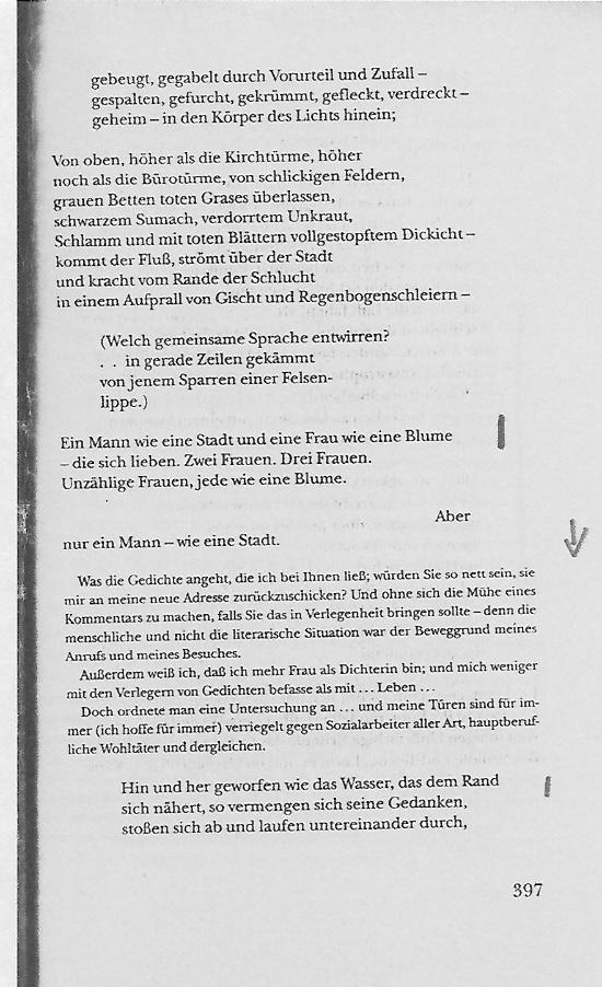 William Carlos Williams Text Seite 397