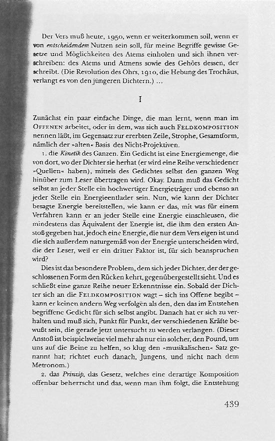 William Carlos Williams Text Seite 439
