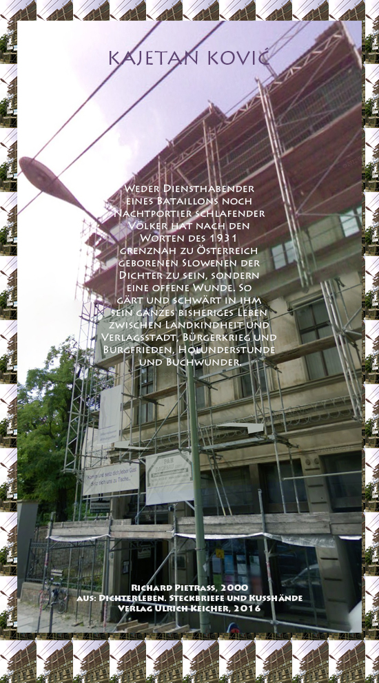 Beitragsbild von Juliane Duda zu Richard Pietraß: Dichterleben – Kajetan Kovič